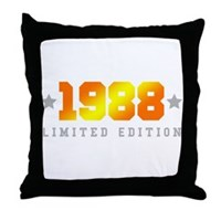 Limited Edition 1988 Birthday Shirt Throw Pillow