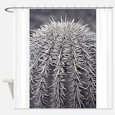 Buzz Cut Cactus Shower Curtain