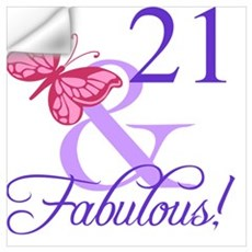 Fabulous 21st Birthday Wall Decal