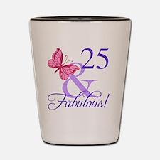Fabulous 25th Birthday Shot Glass