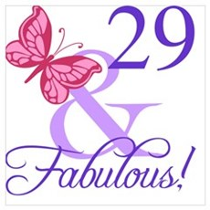 Fabulous 29th Birthday Poster