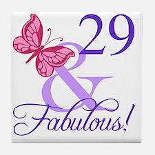 Fabulous 29th Birthday Tile Coaster