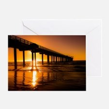Scripps Pier At Sunset Greeting Cards