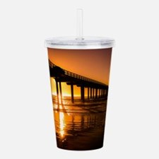 Scripps Pier at Sunset Acrylic Double-wall Tumbler