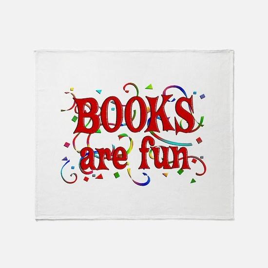 Books are Fun Throw Blanket