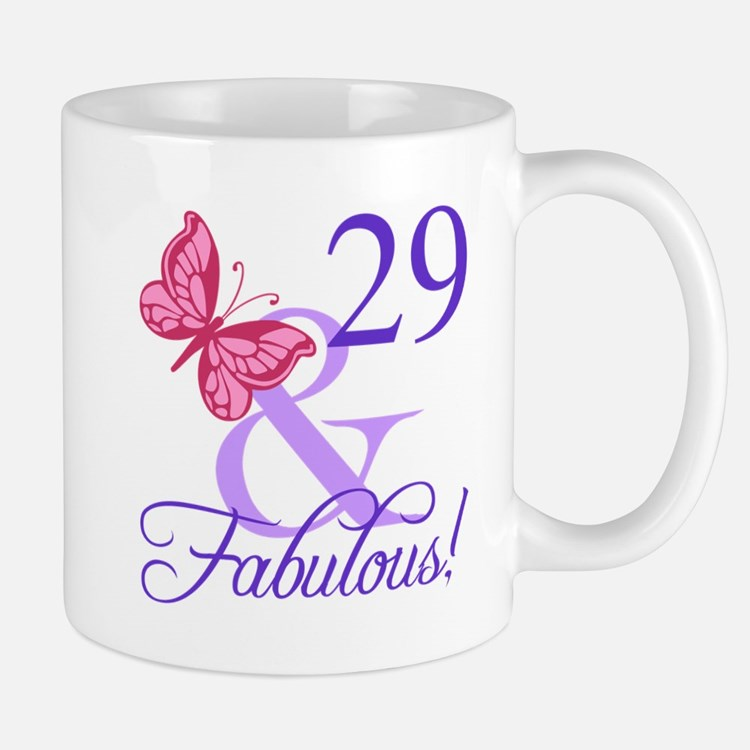 Fabulous 29th Birthday Mugs