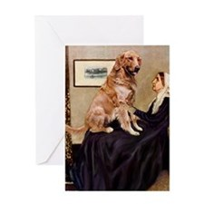 Mom's Golden Retrieve Greeting Card