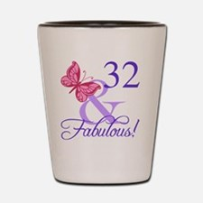 Fabulous 32nd Birthday Shot Glass