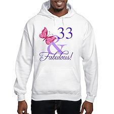 Fabulous 33rd Birthday Hoodie