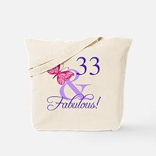 Fabulous 33rd Birthday Tote Bag