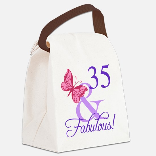 Fabulous 35th Birthday Canvas Lunch Bag
