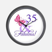 Fabulous 35th Birthday Wall Clock