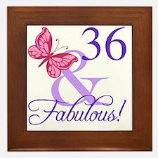 Fabulous 36th Birthday Framed Tile