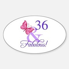 Fabulous 36th Birthday Decal