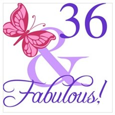 Fabulous 36th Birthday Poster