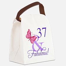 Fabulous 37th Birthday Canvas Lunch Bag