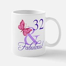 Fabulous 32nd Birthday Mugs