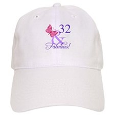 Fabulous 32nd Birthday Baseball Cap