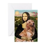 Mona's Golden Retriever Greeting Cards (Pk of 20)