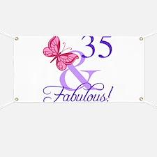 Fabulous 35th Birthday Banner