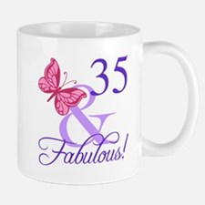 Fabulous 35th Birthday Mugs