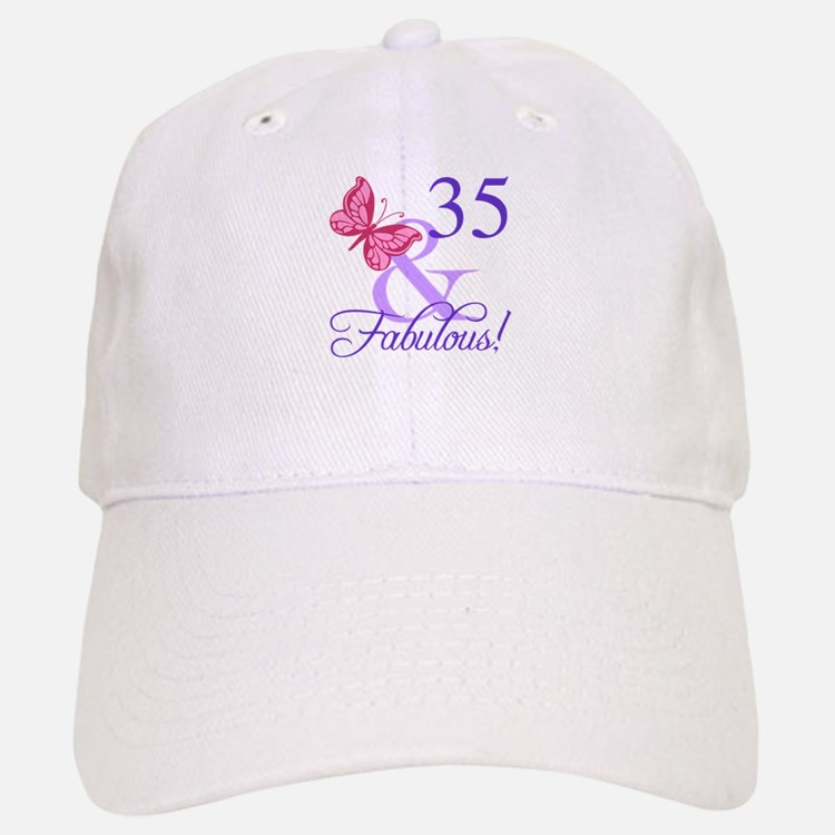 Fabulous 35th Birthday Baseball Baseball Cap