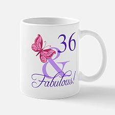 Fabulous 36th Birthday Mugs