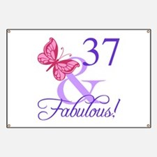 Fabulous 37th Birthday Banner