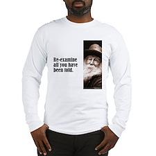 "Whitman ""Re-examine"" Long Sleeve T-Shirt"