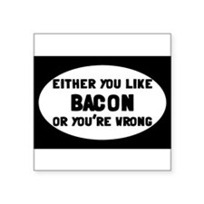 "Cute Bacon Square Sticker 3"" x 3"""