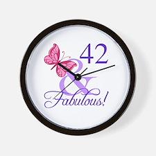 Fabulous 42nd Birthday Wall Clock