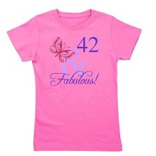 Fabulous 42nd Birthday Girl's Tee