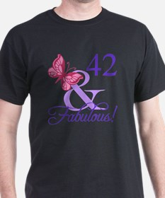 Fabulous 42nd Birthday T-Shirt
