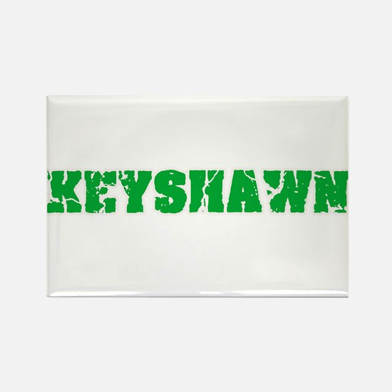 Keyshawn Name Weathered Green Design Magnets