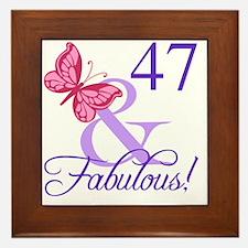 Fabulous 47th Birthday Framed Tile