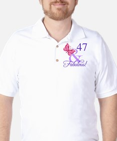 Fabulous 47th Birthday Golf Shirt