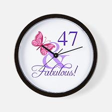 Fabulous 47th Birthday Wall Clock