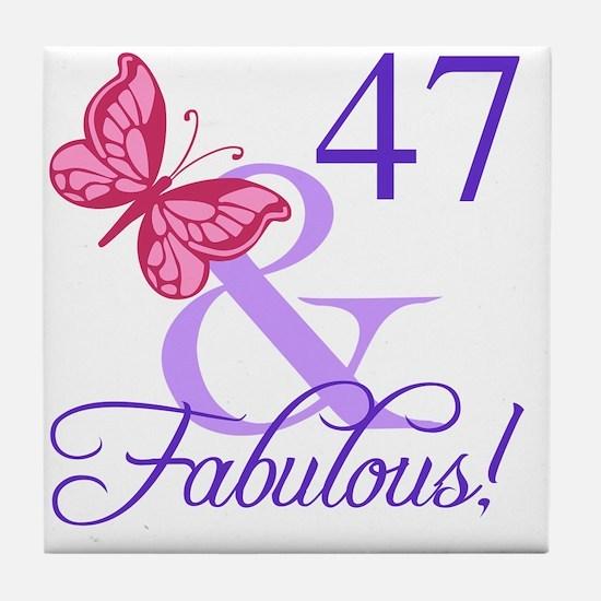 Fabulous 47th Birthday Tile Coaster