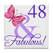 Fabulous 48th Birthday Tile Coaster