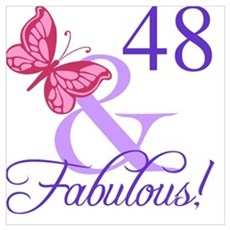 Fabulous 48th Birthday Poster