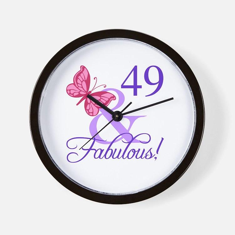 Fabulous 49th Birthday Wall Clock