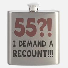 55th Birthday Gag Gift Flask
