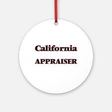 California Appraiser Round Ornament
