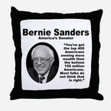 Sanders: 400 Throw Pillow