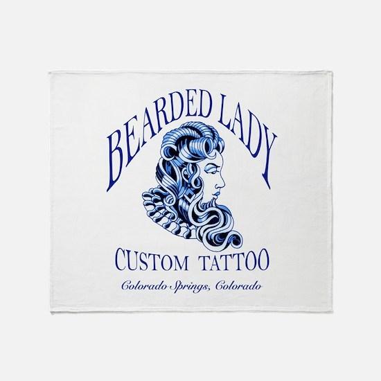 Bearded Lady Logo Throw Blanket