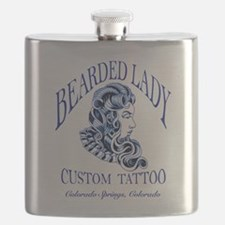 Bearded Lady Logo Flask