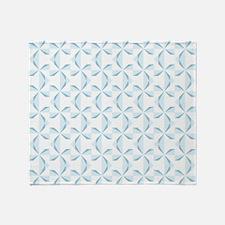 Sky Blue Pinwheels Throw Blanket
