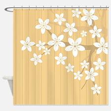 Sakura Blossom Illustration Shower Curtain