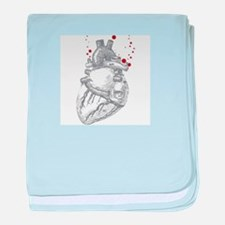 Anitomical Heart with Blood Drops baby blanket
