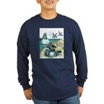 Wild Pigeons Long Sleeve Dark T-Shirt